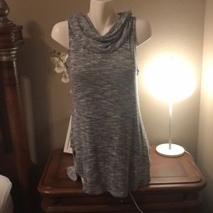 Beautiful,  blue, knitted slight high/low dress.